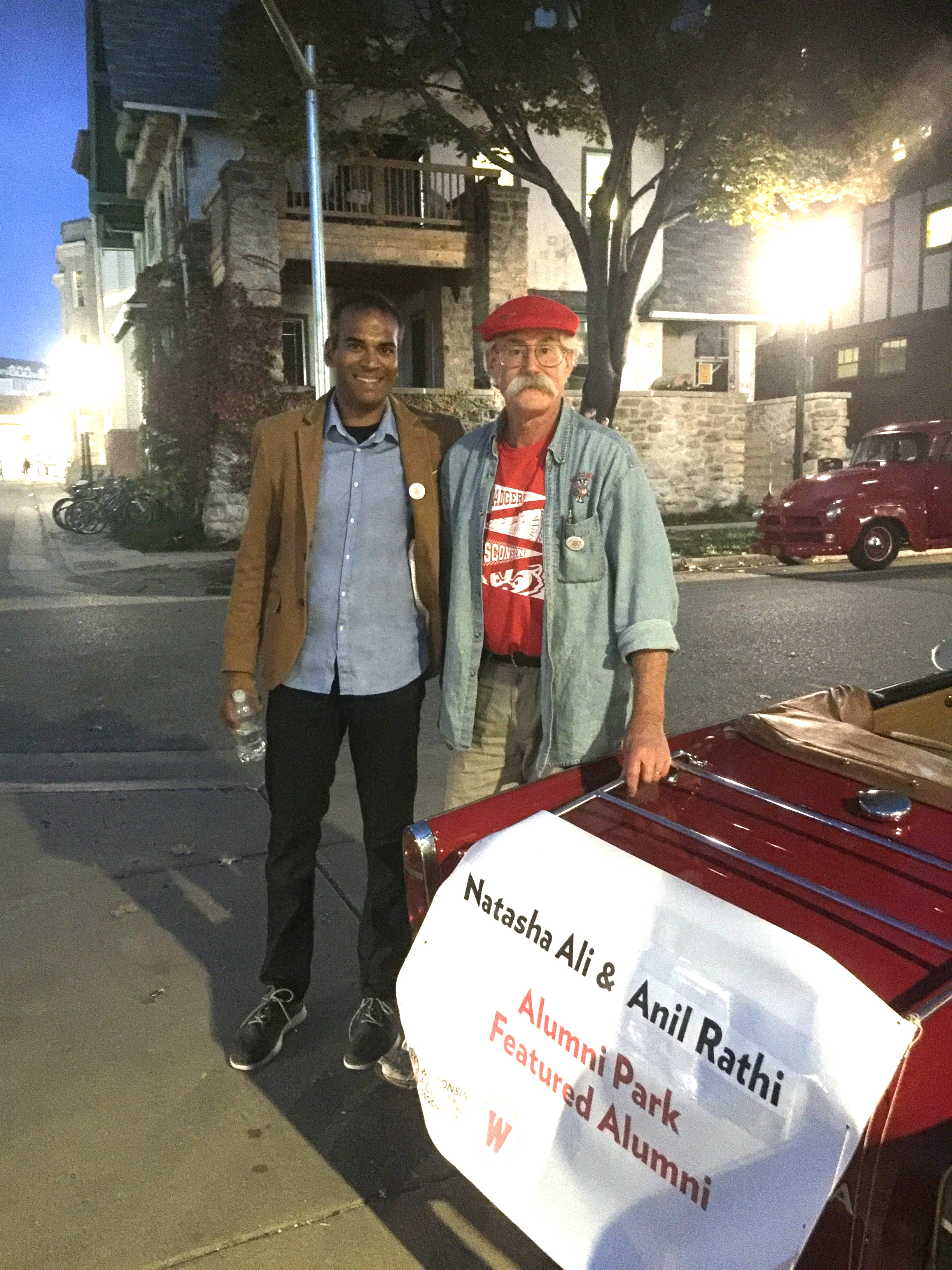 Anil with his driver before the parade