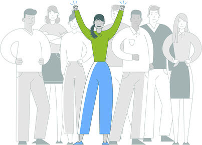 BeSkilled: Person in Crowd - Stand Out